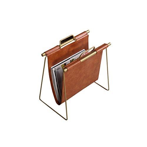 LIYONG Book Plate Retail Display Stand Inhaber, Stand Book Holder, Wohnzimmer Dekorative Display-Ständer, Kunstleder + Metall Book Stand, Desktop-Speicher, 40 X 22 X 43 cm Bücherregal -