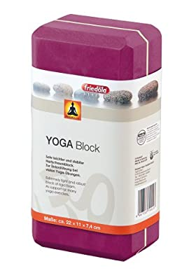 friedola Yoga Block ca. 22x11x7,4cm Bordeaux Rot