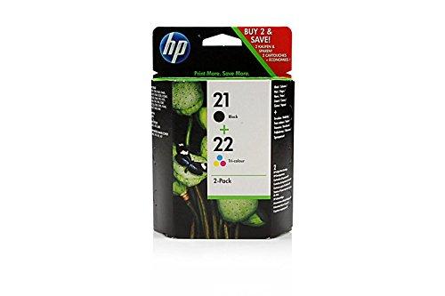 Preisvergleich Produktbild Original Tinte passend für HP DeskJet F 2180 HP 21+22 SD367AE445 - 2x Premium Drucker-Patrone - Schwarz, Cyan, Magenta, Gelb - 360 Seiten