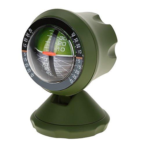 Alomejor Auto Neigungsmesser Kompass Winkel Steigung Niveau Meter Sucher Werkzeug Balancer Maß Ausrüstung für Auto Fahrzeug