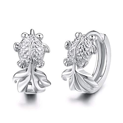 Wilde s925 Sterlingsilbernadelohrringe weibliches Temperamentohrringe einfache Ohrringe Pers5onlichkeit süßes reines Silberohrringschmucksachen I