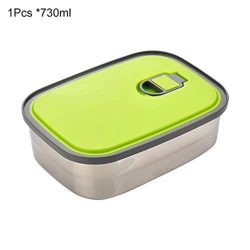 Zihui scatola di pranzo in acciaio inossidabile scatola quadrata per studenti o adulti contenitore per alimenti a tenuta stagna per esterni picnic scuola ufficio