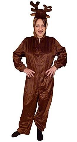 An74/00 Gr. XL Elch Hirsch Kostüm für Fasching und Karneval, Kostüme für Frauen Männer Erwachsene Paare, Faschingskostüm,
