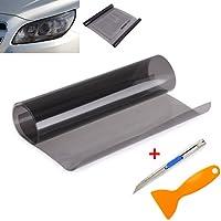 QEUhang - Lámina autoadhesiva para tintar faros de vehículos, intermitentes, luces traseras, faro antiniebla, 120 x 30cm, 2 unidades