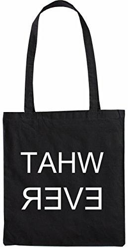 Mister Merchandise Tasche What Ever Stofftasche , Farbe: Schwarz Schwarz