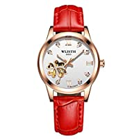 WYEING. Womens Hollow Creative Classic Watch, Leather Analog Dial Quartz Sport Wrist Watch,K1