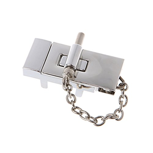 echteck Handtasche, Metallschnalle, Silber/Schwarz, Ideal für Geldbörsen, Taschen, Buch, Leder, Handtasche, Brieftasche. (Silber) ()