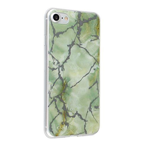 iPhoen 8 / 7 Back Case, iPhone 7 Hülle Marmor, iPhone 8 Handyhülle Marmor, iPhone 7 Kratzfeste Hülle, Moon mood® Soft Hülle für Apple iPhone 7 / 8 4.7 Zoll Ultra Thin Dünn TPU scheuern Weich Fall Schu Marmor 11
