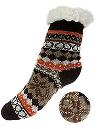 Niños Calcetines térmicos ricos en algodón para resbalón para el invierno [033]