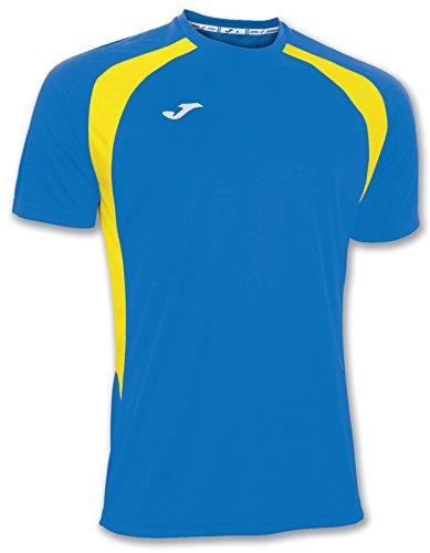 Joma 100014.709 - Camiseta de equipación de manga corta para hombre, color azul royal / amarillo, talla 2XL-3XL