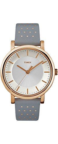 Timex tw2r27400clásica Originals oro tono gris de piel de la mujer banda analógico reloj