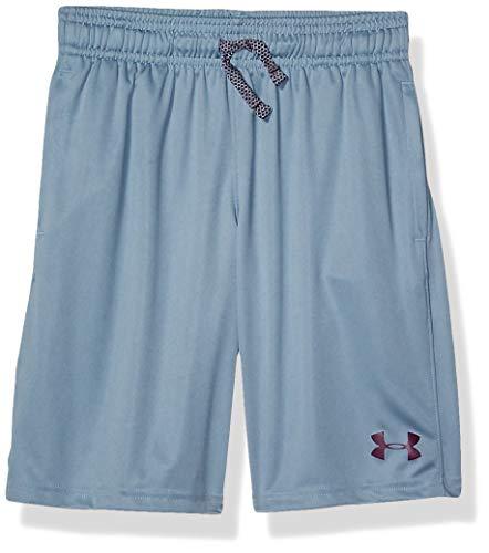 Under Armour Jungen Prototype Wordmark Shorts, Ash Gray (013)/Kinetic Purple, Jugend Small -
