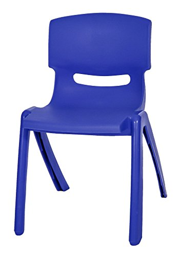 KIDS/CHILDREN HIGH QUALITY EASY STACKABLE PLASTIC CHAIR INDOOR OUTDOOR USE BLUE