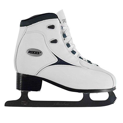 Roces Damen RFG1 Schlittschuhe Eislauf Eislaufen Wintersport Schnürsenkel Weiß 6.5 (40)