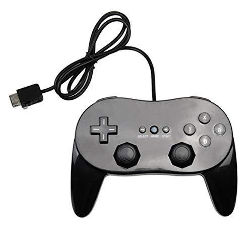Delicacydex Classic Game Controller mit Grip Joypad Gamepad Komfortable Gamepad Gaming Joystick für Nintendo Wii Konsole - Schwarz