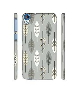 NattyCase Leaf 3D Printed Hard Back Case Cover for HTC Desire 820