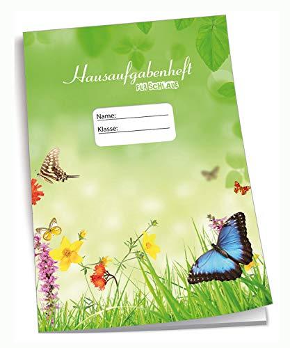 Edition Trötsch 201533 - Cuaderno de Deberes (DIN A5, 96 páginas, con sobre), diseño de Mariposas