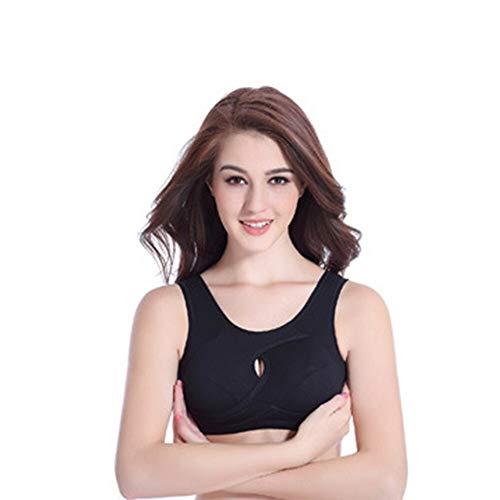 LXJ Sport-BH, Mode Bras for Frauen Push-Up-BH Nahtlose Fitness Crop Top-BH Sport Yoga Schlafen Unterwäsche Frauen Cotton Top Bra (Color : Flesh, Size : M) - 5