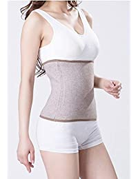 terapia a maglia addominale fascia lombare addominale lombare per la schiena, snellente Slim Wrap Belt Postpartum Belly Band-C sezione chirurgico recupero, Khaki, L for waist 90-112CM