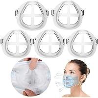 Lot de 5 supports Mas-k 3D en silicone pour un port confortable Mas-k en créant plus d'espace pour respirer, idéal pour le maquillage, réutilisable, lavable – Translucide