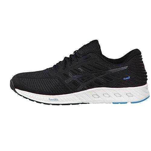 Asics Herren fuzeX Sneaker, Blau, UK Black/Black/Island Blue