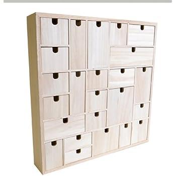 Artemio Advent Calendar To Decorate Geometric Wood Wood  X
