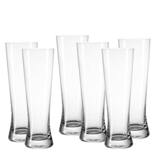 Leonardo 049506 6-er Set Weizenbierglas Bionda Bar 500 ml Pils-bar Set