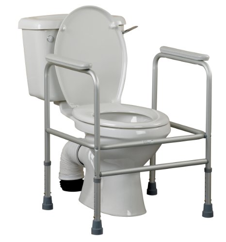 Patterson Medical WC-Aufstehhilfe a us Aluminium, verstellbar 66-76 x 60.5 x 47 cm