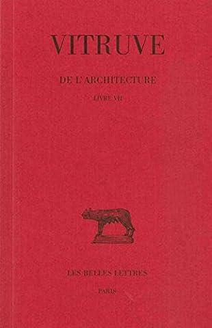 Marie Therese De France - De l' Architecture. Livre