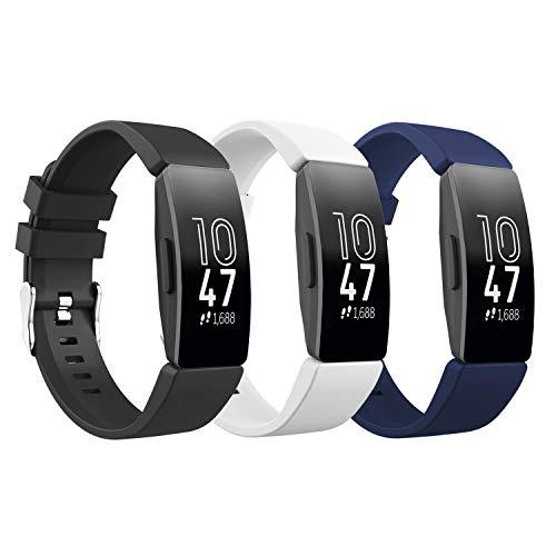 TiMOVO Pulsera Compatible con Fitbit Inspire/Inspire HR, [3-Pack] Pulsera de Silicona, Correa...