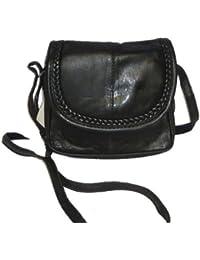 Bag Street - Sac À Main En Cuir De Sac D'Épaule 18 X 16 Cm Noir Petites Dames - Noir
