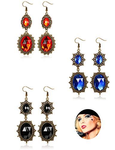 tall Halloween Ohrringe für Frauen Mädchen Gothic Vintage Style Ohrring Geist Vampir Tropfen Baumeln Schmuck ()