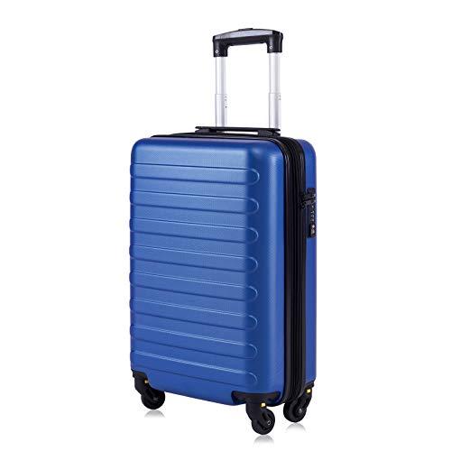 """Toctoto Bagaglio a Mano Espandibile con Lucchetto TSA (20"""" 41LT 55x35x20cm), Adatto Per Voli Low Cost Bagaglio Da Cabina Ryanair, Vueling, Wizz Air (20""""(55cm-41L)-Royal)"""