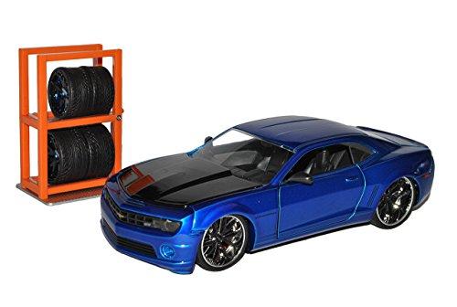 Chevrolet Chevy Camaro SS Blau mit extra Felgen Ab 2009 1/24 Jada Modell Auto