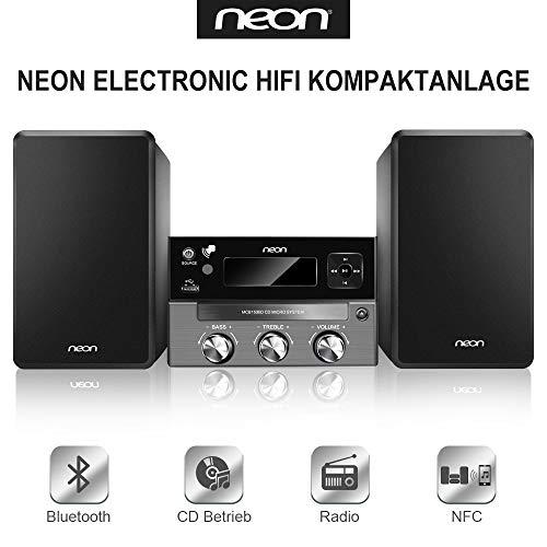 Neon Electronic- Kompaktanlage DAB+ CD Player HiFi System Lautsprecher Musik Spieler (MCB1536D) -
