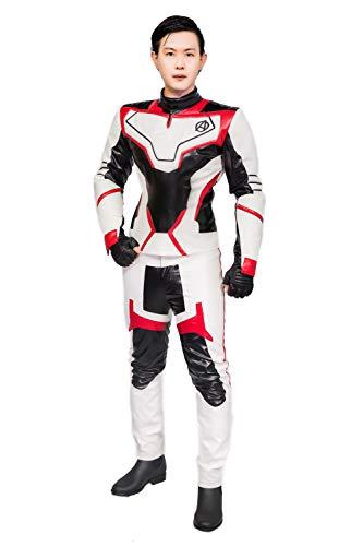 Pandacos Quantum Cosplay Kostüm The Avengers Costume Unisex Jumpsuit Deluxe Anzug aus Leder für Halloween, Karneval und Fasching