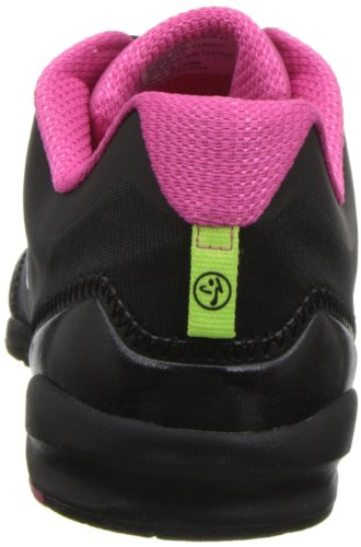Zumba Footwear ZUMBAFLEX CLASSIC, Damen Hallenschuhe, Pink (Black/Fuschia), 43 EU (8.5 Damen UK) -