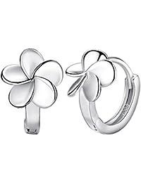 Hosaire Pendientes de plata de flores esmerilado Moda Muchachas de las Mujeres Pendientes de Botón Nuevo Estilo para Mujeres de la Joyería Accesorios