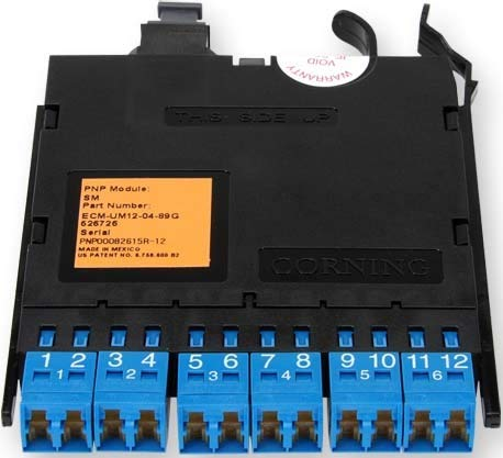 Corning-Modul Edge ECM UM12-0593Q 12Faser LC Duplex OM4Faser Stecker -