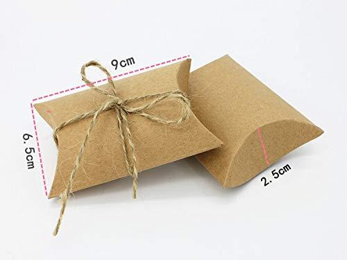 TGQETC 50pcs neue Art-Kissen-Form-Hochzeits-Bevorzugungen und Geschenk-Kasten-Süßigkeit-Kasten-Partei-Dekoration