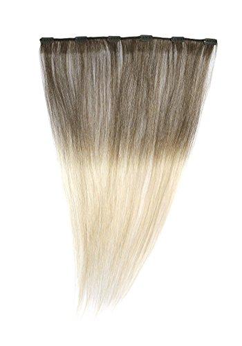 American Dream - A1/QFC12/18/4-24 - 100 % Cheveux Naturels - Barrette Unique Extensions à Clipper - Couleur 4-24 - Brun Châtain-Blond Soleil - 46 cm