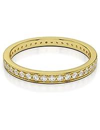 UK Hallmarked 18k Yellow Gold 0.40 Carat Full Diamond Eternity Ring