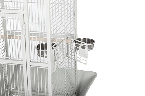 Prevue Hendryx 3151C Pet Products Wrought Iron Select Bird Cage, Chalk White,18'' x 18'' x 57'' 8