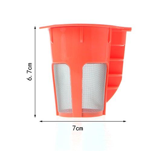 Tandou Kaffeefilter K Cup Karaffe Kaffeekapselfilter Ersatzfilter nachfüllbar Korb Topf (Karaffe K-cups)