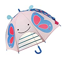 IPOTCH Cartoon Ear Rain Gear Automatic Handle Umbrella Easy Opening Folding Children