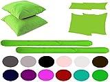 Leonado Vicenti 2 Stück Kopfkissenhüllen Einfarbig Baumwolle UNI Kissenbezug Kissenhüllen Bezug Kissen Dekokissen / Stillkissen / Seitenschläferkissen wählbar, Kissenbezug Farbe:2 Stück Grün, Maße:50 x 70 cm