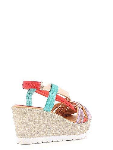 Grunland SA1016 Sandalo zeppa Donna Multicolor
