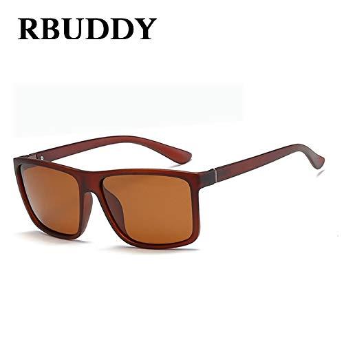 KHKJ RBUDDY 2019 Sunglasses Men Polarized Square Sunglasses Brand Design UV400 Protection Shades oculos de sol Hombre Glasses Driver