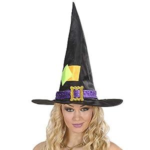 WIDMANN?Sombrero bruja con pezze Womens, Negro, talla única, vd-wdm5371s