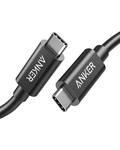 Anker Thunderbolt 3.0 USB-C auf USB-C Kabel 50cm unterstützt superschnelles Laden und Rapide Datenübertragung, für MacBook Pro, MacBook 2016, Google Pixel, Nexus 6P, Huawei Matebook und mehr